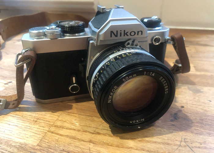 Nikon fm camera with 1.4 50mm lens film slr  - 1