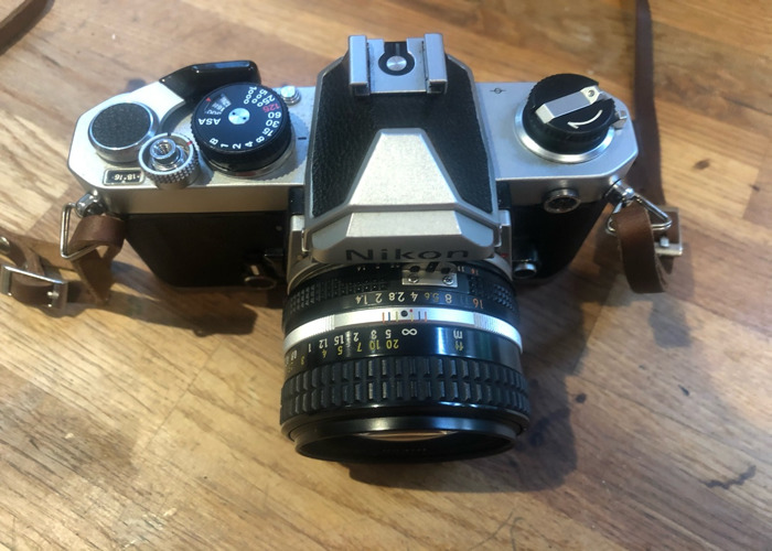 Nikon fm camera with 1.4 50mm lens film slr  - 2