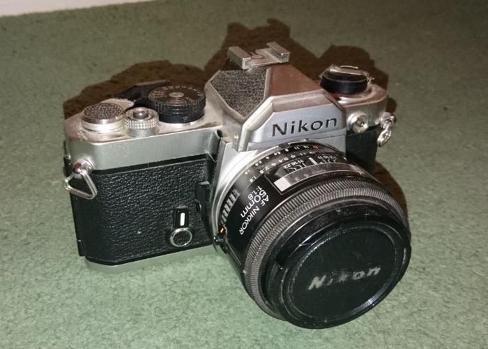 Rent Nikon Fm Slr 35mm Film Camera Nikkor F1 8 50mm Lens Fat Llama