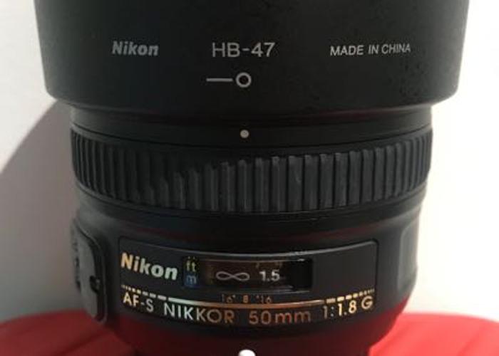 Nikon lens 50mm  1:1.8G ,  - 2