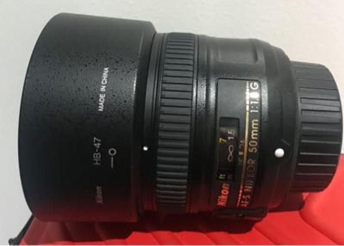 Nikon lens 50mm  1:1.8G ,  - 1