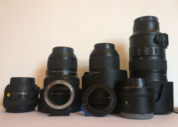 Nikon Lens Kit with Sony E mount and Canon EF Mount Adapters - 1