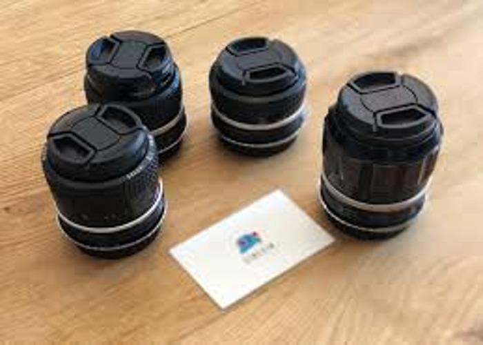 Nikon Nikkor AI Lens Kit for Canon Eos Mount. - 1