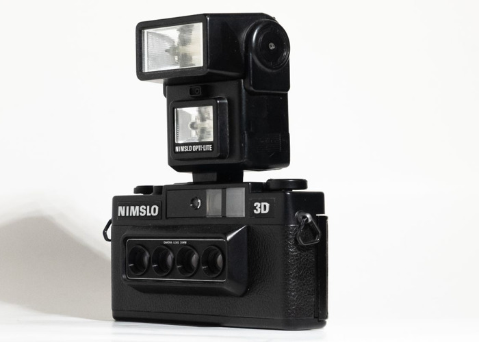 Nimslo 3D camera w/ Opti-Lite flash - 2