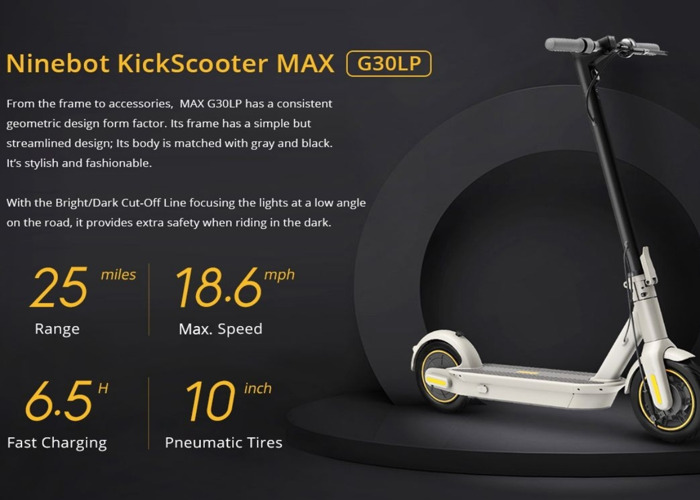 ninebot max g30 lp electric scooter - 2