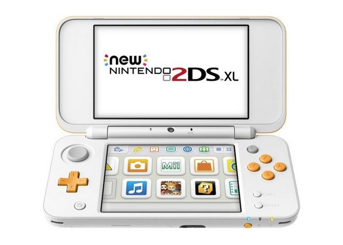 Nintendo 2DS XL Console - White / Orange - 2