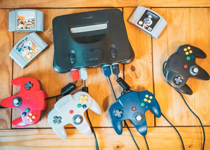Nintendo 64 + 4 Controllers + 5 Games + HDMI  - 1