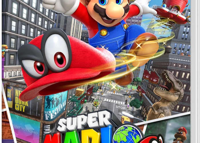 Nintendo Switch - Neon Red/Neon Blue and super Mario Odyssey - 2