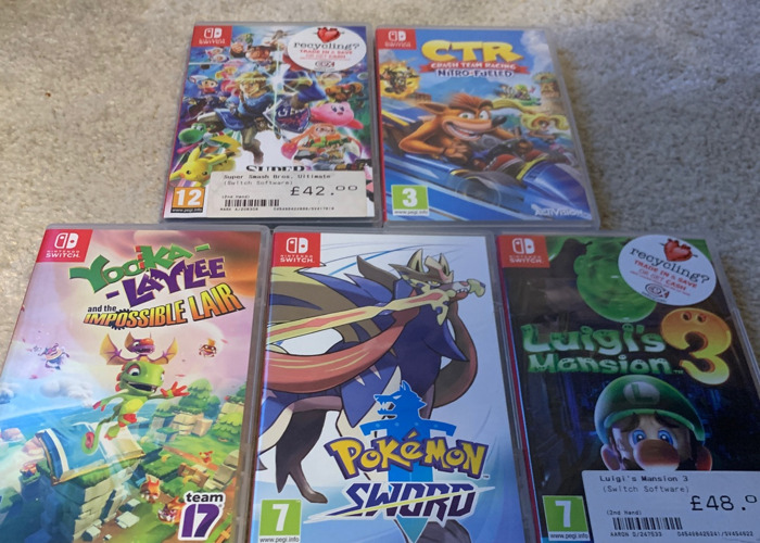 Nintendo Switch with 5 GAMES! - 2