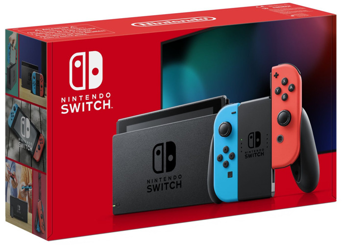 Nintendo Switch Console - Neon with improved battery - 1