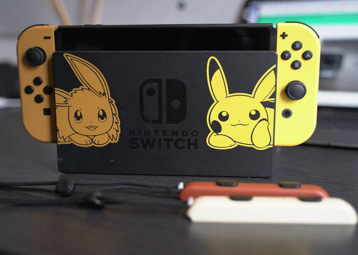 Nintendo Switch Pikachu &Evee Coloring Version   - 1