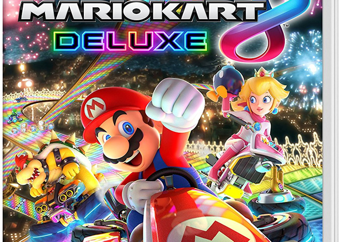 Nintendo Switch with Mario kart plus games om software - 1