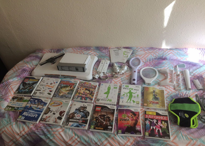 Nintendo Wii with Games, Balance Board and Attachments - 1