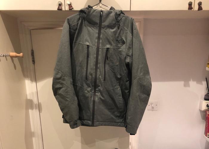 Northface gray waterproof ski jacket - 1