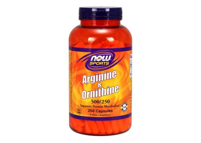 Now Foods Sports L-Arginine & Ornithine 500/250, 100 Capsules - 1