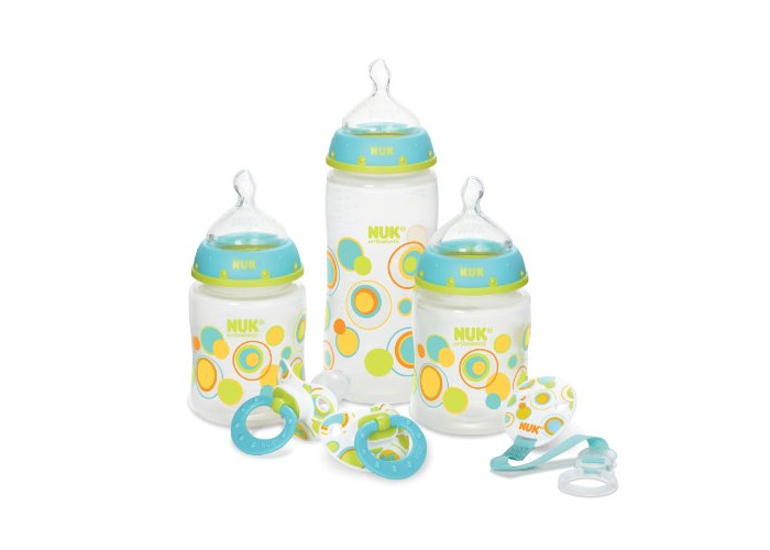 NUK Fashion Confetti Ducks Orthodontic Bottle and Pacifier Gift Starter Set by NUK - 2