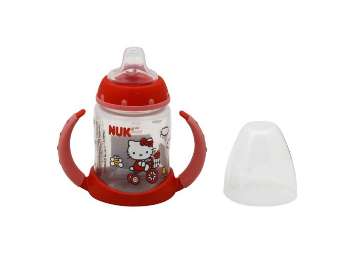 NUK Hello Kitty Silicone Spout Learner Cup, 5 Ounce - 2