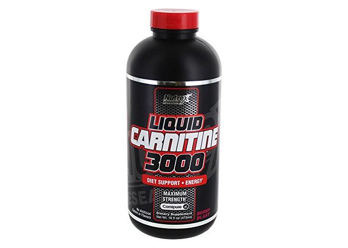 Nutrex - Liquid Carnitine 3000 Diet Support & Energy Maximum Strength Berry Blast - 16 fl. oz. - 1