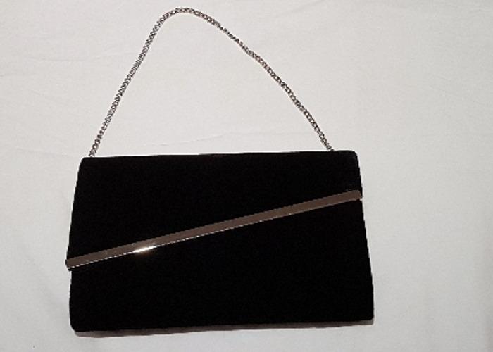Occasion bag, Evening bag, Black Velvet Clutch, handbag - 1