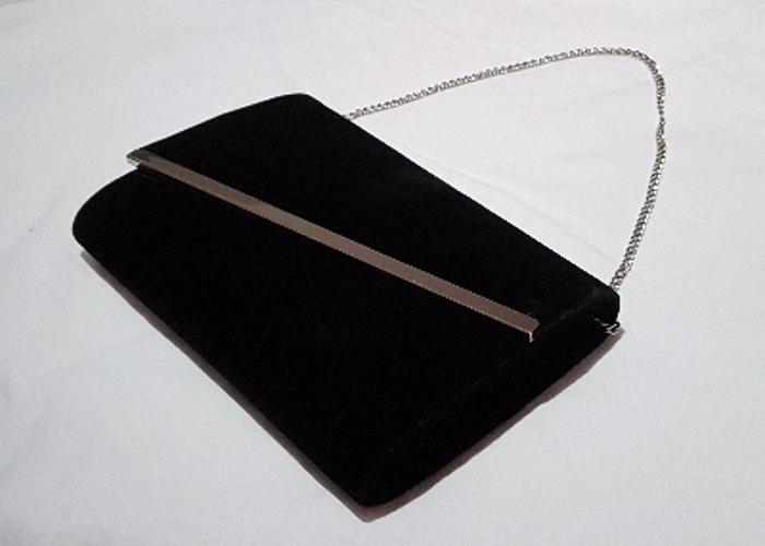 Occasion bag, Evening bag, Black Velvet Clutch, handbag - 2