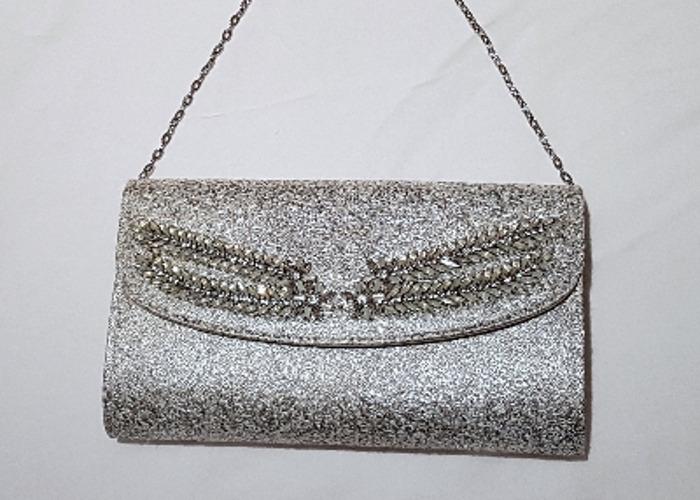 Occasion bag, Evening bag, Silver Clutch, handbag - 1