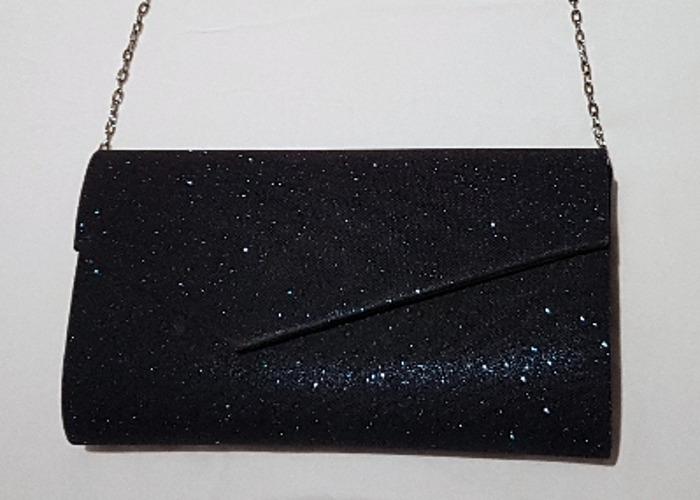 Occasion bag, Evening bag, Sparkly Navy Clutch, handbag - 1