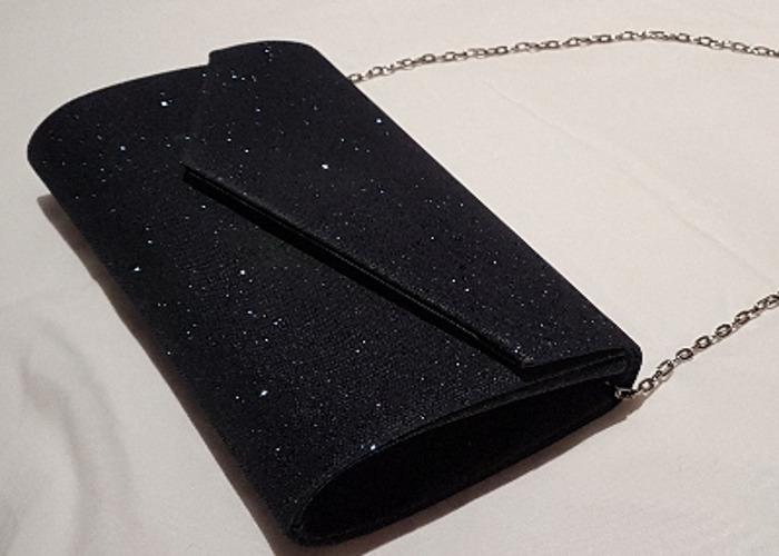 Occasion bag, Evening bag, Sparkly Navy Clutch, handbag - 2