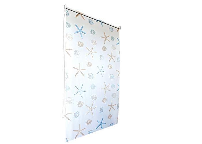 Ocean Bathroom Shower Curtain Roller Blind Extra Long, 4 Width Sizes, 80 x 240CM - 1