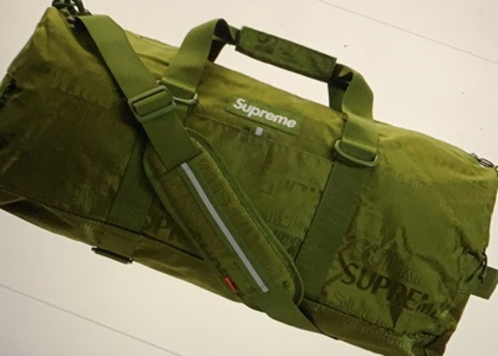 Olive Green Supreme Duffle Bag SS19 - 1