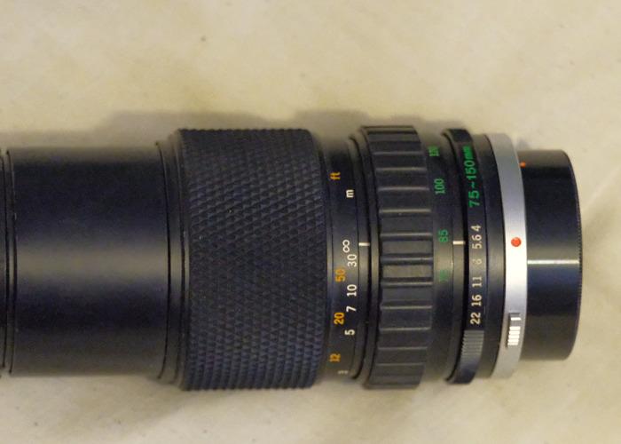 Olympus film camera 75-150 f4 suitable for 35mm om1 om2 etc  - 1