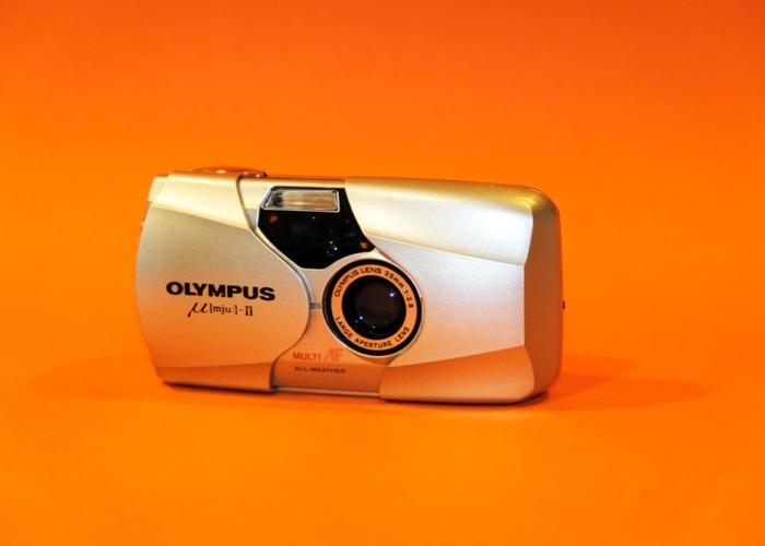 OLYMPUS MJU II compact 35mm film camera - 1