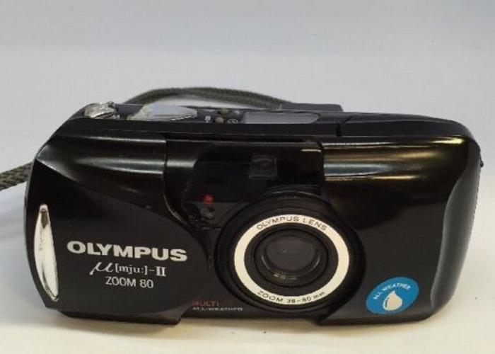 OLYMPUS µmju:-II ZOOM 80 35MM MJU 2 FILM CAMERA ALL WEATHER  - 2