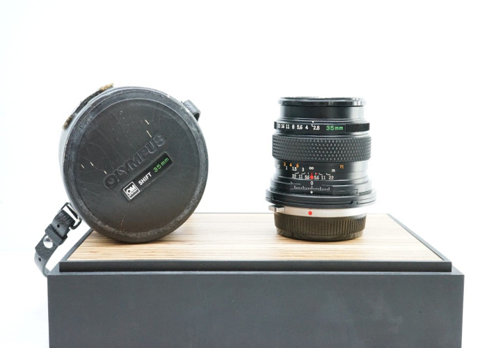 Olympus OM Zuiko 35mm F2 8 Perspective Control Shift Lens For Architecture  -BB-