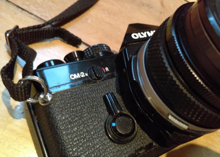 Olympus OM2N film camera & 28mm lens - 2