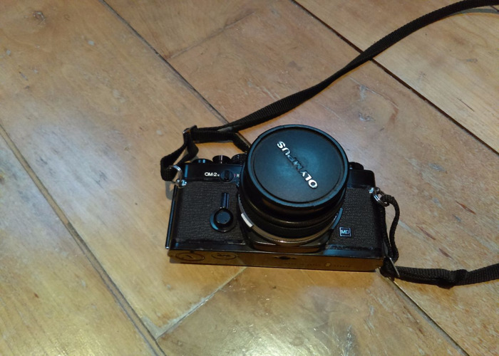 Olympus OM2N film camera & 28mm lens - 1