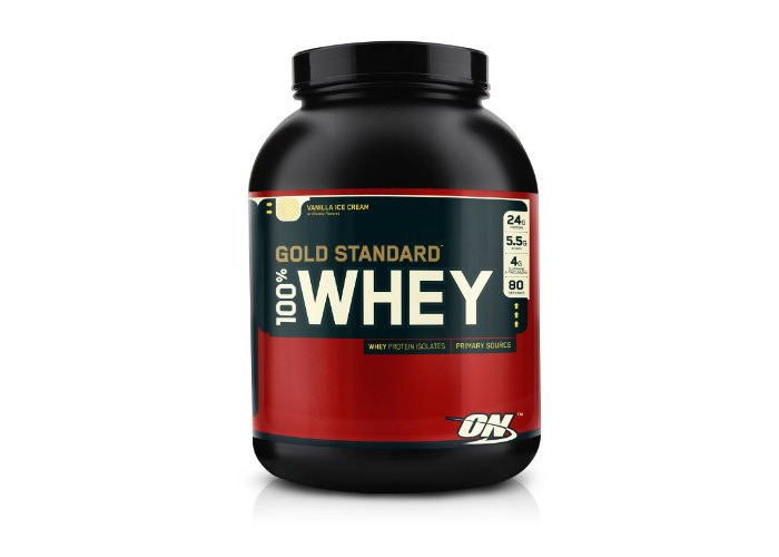Optimum Nutrition 100 Percent Vanilla Ice Cream Whey Gold Standard Supplements, 5 lbs,  2.27 Kg - 2