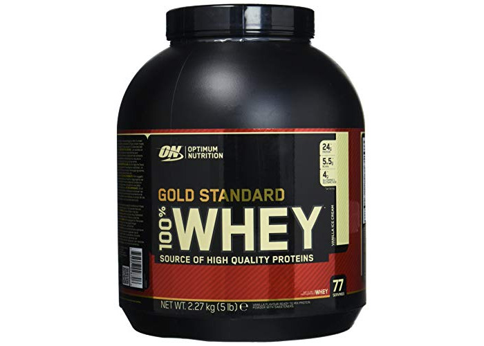 Optimum Nutrition 100 Percent Vanilla Ice Cream Whey Gold Standard Supplements, 5 lbs,  2.27 Kg - 1