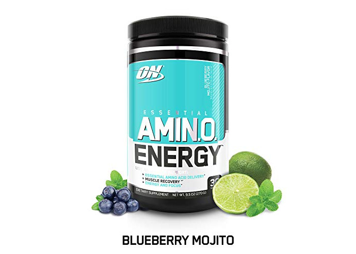 Optimum Nutrition Amino Energy with Green Tea and Green Coffee Extract, Flavor: Blueberry Mojito, 30 Servings - 1