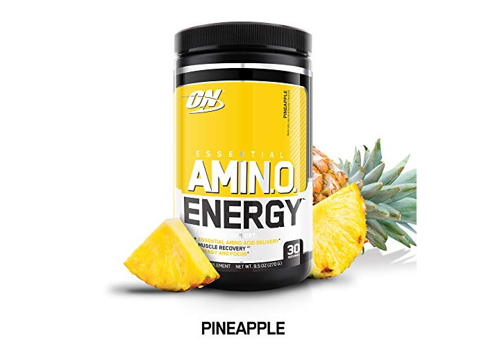 Optimum Nutrition Amino Energy with Green Tea and Green Coffee Extract, Flavor: Pineapple, 30 Servings - 1