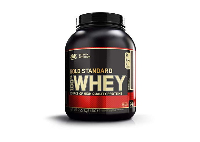 Optimum Nutrition Gold Standard Whey Protein Powder with Glutamine and Amino Acids Protein Shake - Double Rich Chocolate, 74 Servings, 2.27 kg (Packaging May Vary) - 1