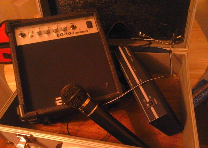 Optimus  receiver , cordless microphone, EG- 10 J speaker   - 1