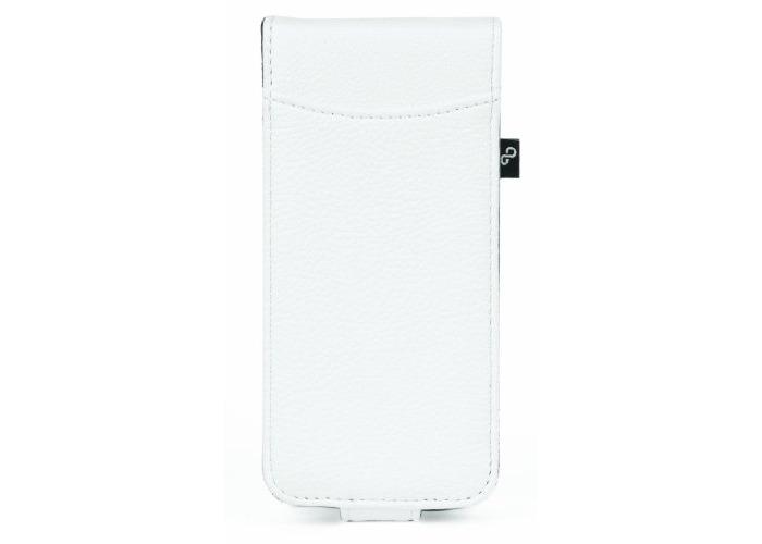 Orbyx Grainy Flip Case for iPhone 5 - White/Purple - 1
