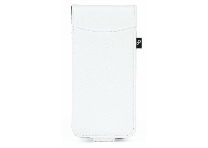 Orbyx Grainy Flip Case for iPhone 5 - White/Purple - 2