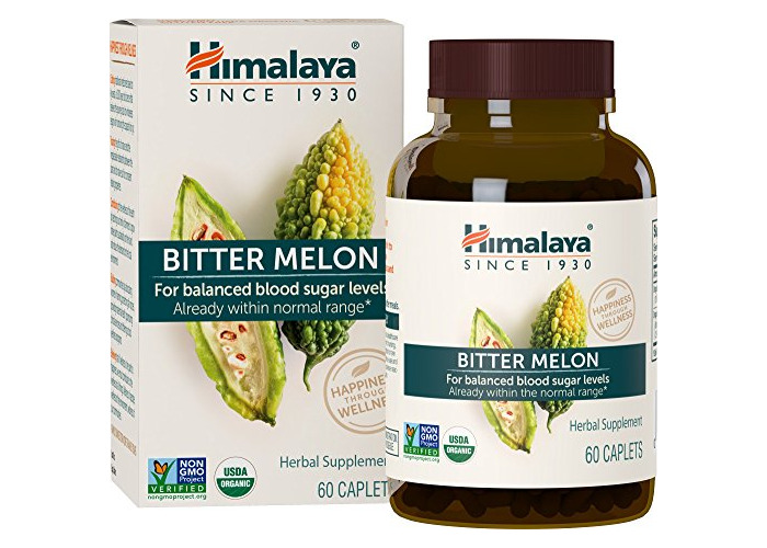 Organic Bitter Melon - All Natural Glycemic, Pancreatic Support & Weight Management Supplement, USDA Certified Organic and Non-GMO Verified - by Himalaya, 60 Caps - 1