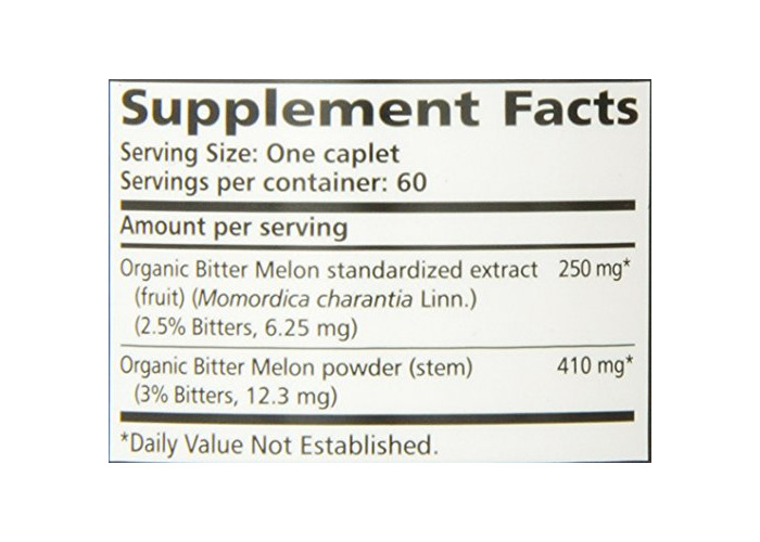 Organic Bitter Melon - All Natural Glycemic, Pancreatic Support & Weight Management Supplement, USDA Certified Organic and Non-GMO Verified - by Himalaya, 60 Caps - 2