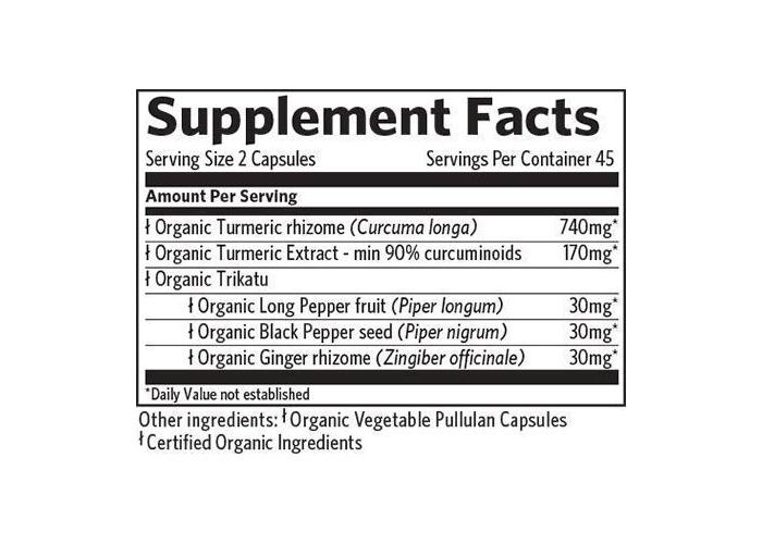 Organic India Turmeric Formula Vegetable Capsules, Pack of 90 - 2