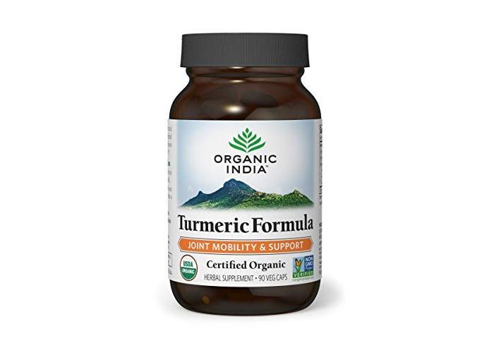 Organic India Turmeric Formula Vegetable Capsules, Pack of 90 - 1