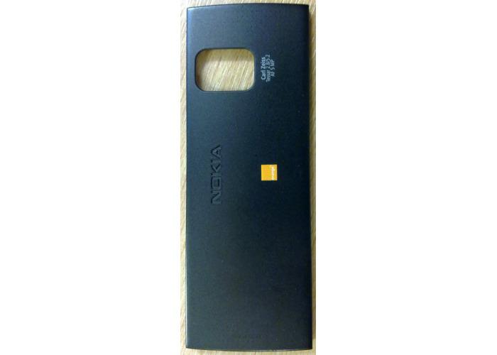 Original Battery Cover For Nokia X6 Black with Orange Logo - 2