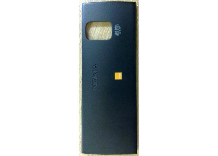 Original Battery Cover For Nokia X6 Black with Orange Logo - 1