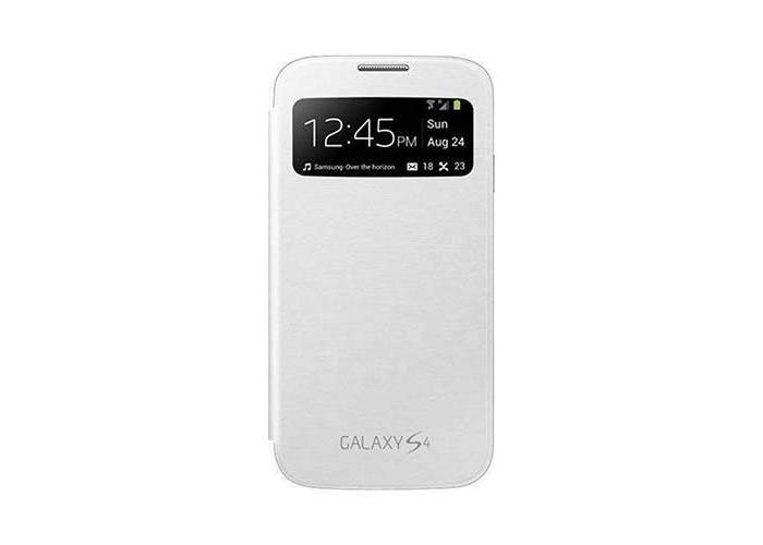 Original Samsung Galaxy S4 ( GT-I9500 / GT-I9505 ) flip cover ( EF-CI950BWEGWW ) - White - 1